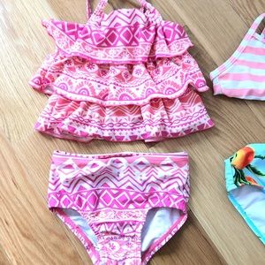 Two piece pink swimsuit